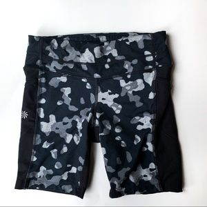 "Athleta ""Be Free"" Camo Spandex Shorts"
